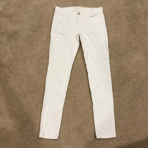 American Eagle Outfitters Denim - White American Eagle Jeggings Jeans stretch pants